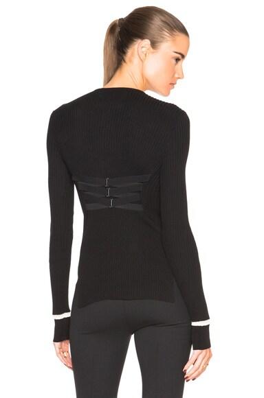 Maison Margiela Lace Up Back Sweater in Black