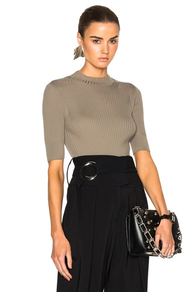 Maison Margiela Rib Knit Top in Mastic