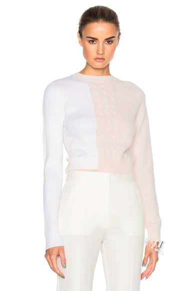Maison Margiela Sweater Bodysuit in Camel, White & Peach