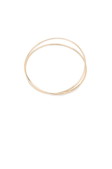 Maison Margiela Fine Twisted Bracelet in 18k Yellow Gold