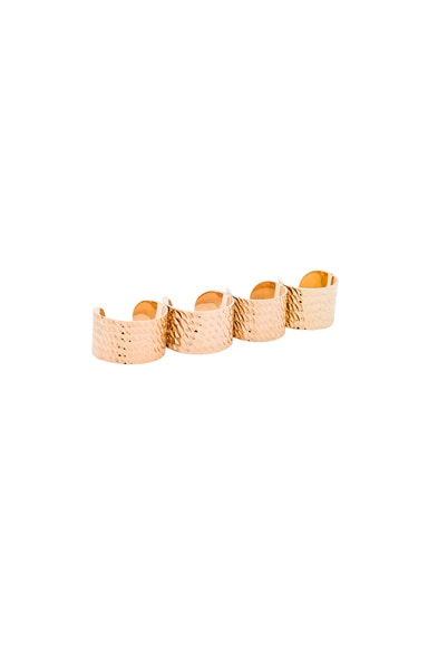 Maison Margiela Textured Ring Set in Gold