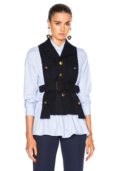 Maison Margiela Pocket Vest in Navy
