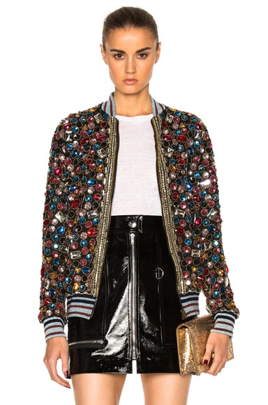 Maison Margiela Embroidered Bomber Jacket in Multi