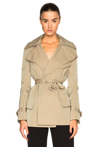 Maison Margiela Gabardine Trench Jacket in Beige