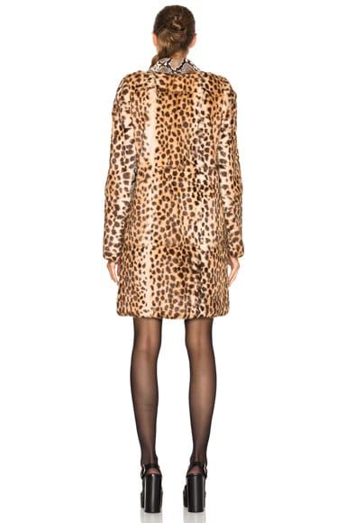 Printed Lapin Rabbit Fur Jacket