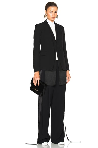 Maison Margiela Heavy Enver Satin Blazer in Black