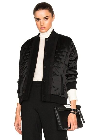 Maison Margiela Wool Satin Jacket in Black