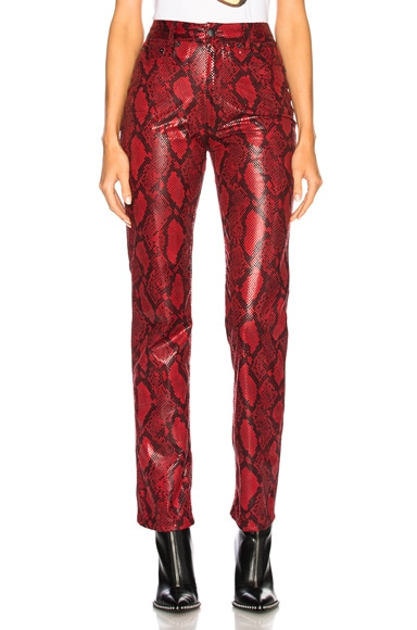 Faux Snakeskin Pants
