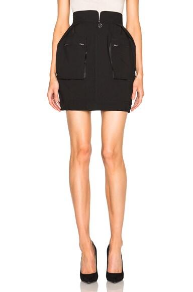 Maison Margiela Wool Popeline Skirt in Black