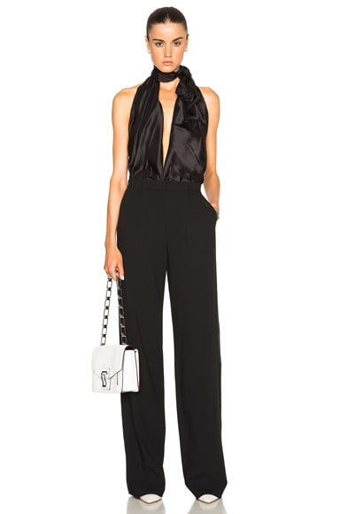 Maison Margiela Wool Popeline Jumpsuit in Black