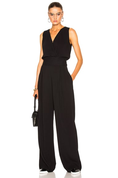 Maison Margiela Crepe Sable Jumpsuit in Black