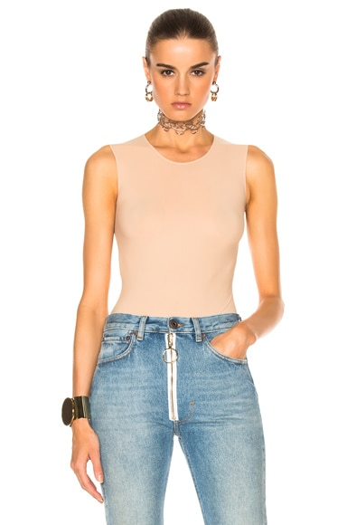 Maison Margiela Crew Neck Bodysuit in Nude