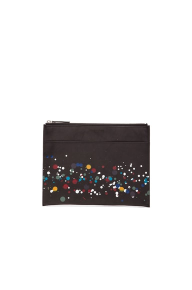 Maison Margiela Calf Leather Pouch with Pollock Treatment in Black