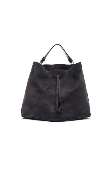 Maison Margiela Velour Leather Bag in Asphalt