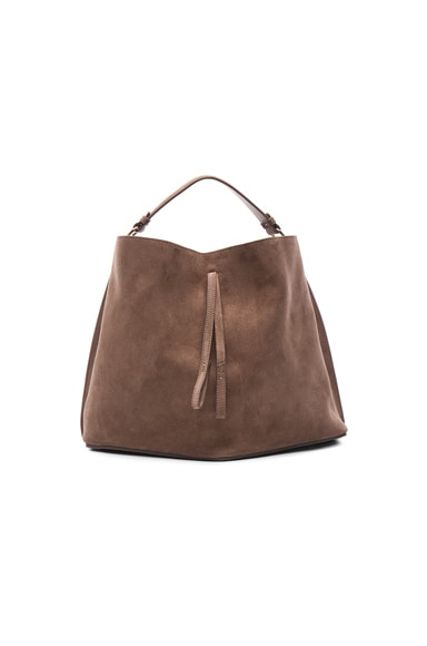 Maison Margiela Velour Leather Bag in Coconut
