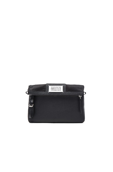 Maison Margiela Leather Zipper Bag in Black