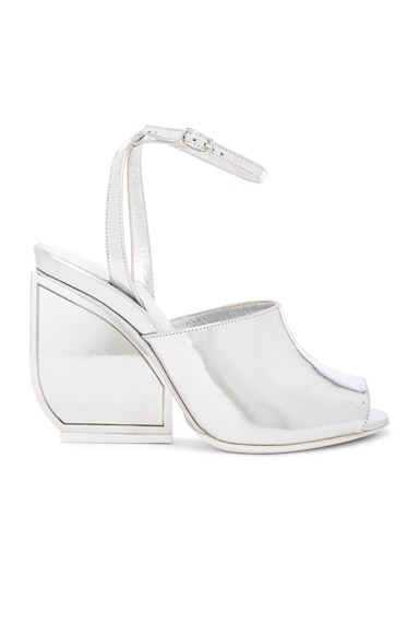 Maison Margiela Mirror Leather Heels in Silver