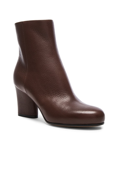 Embossed Leather Booties