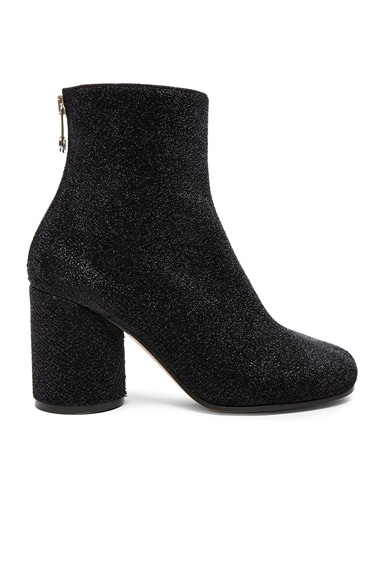 Maison Margiela Glitter Booties in Black