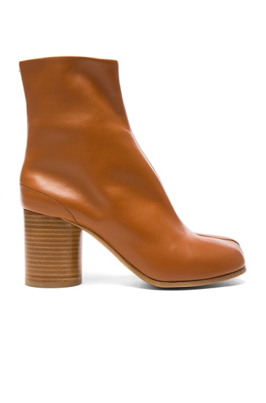 Leather Split Toe Booties