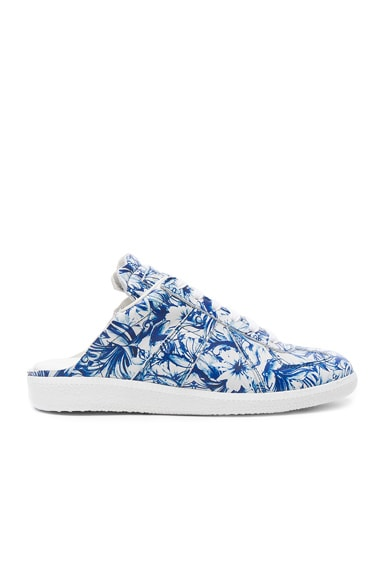 Maison Margiela Printed Leather Sneakers in Unique Variant