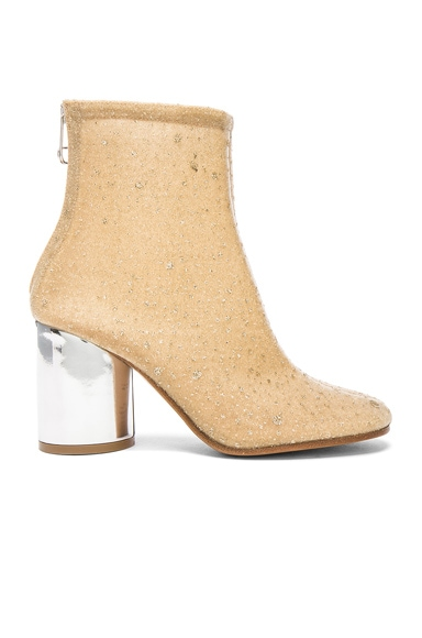 Maison Margiela Heeled Booties in Beige