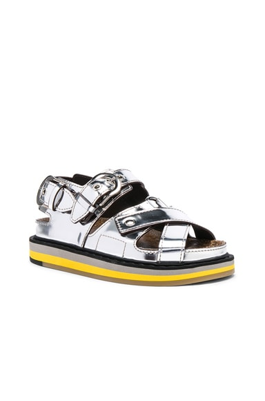 Mirror Leather Sandals