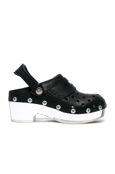 Maison Margiela Plexi Clogs in Black