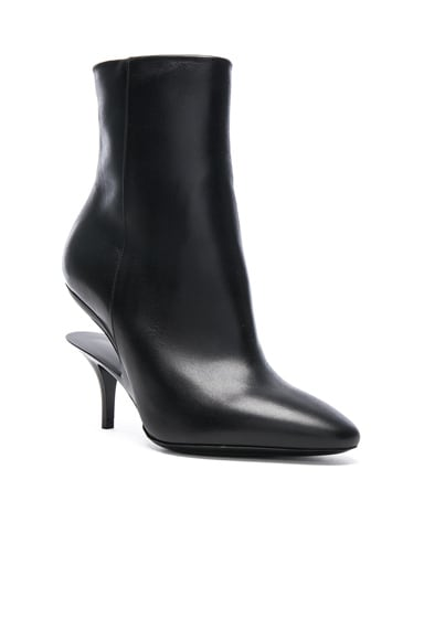 Cut Out Leather Boots