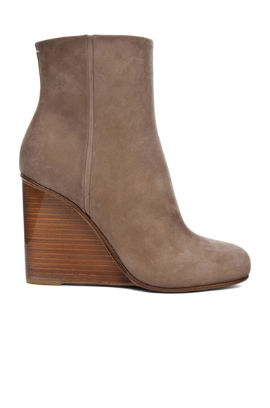 New Plexi Suede  Wedge Bootie