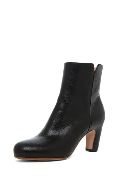 Bootie with Curved Heel