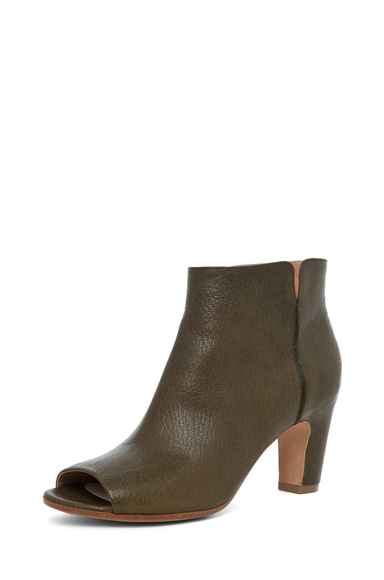 Peep Toe Bootie with Curved Heel