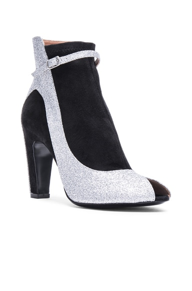 Glitter Ankle Strap Booties