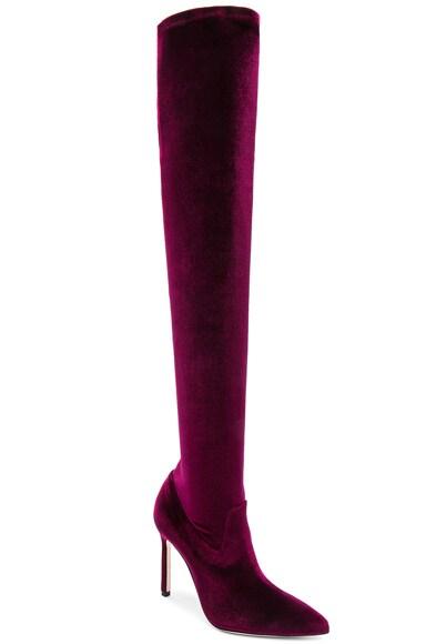 x Jonathan Simkhai Velvet Pascalarehi Boots
