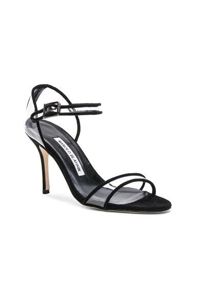 Suede & PVC Fersen 90 Heels