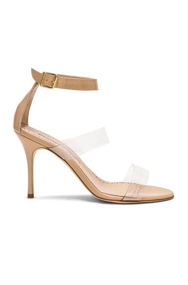 Patent Leather & PVC Kaotic 90 Sandals