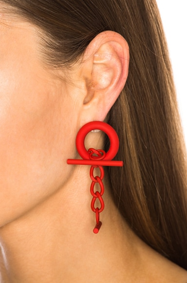 Cuff Link Earrings