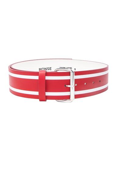 Racing Stripe Print Belt