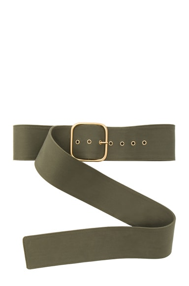 Monse Cotton Canvas Belt in Olive