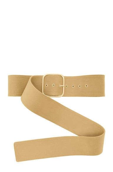 Monse Cotton Canvas Belt in Khaki