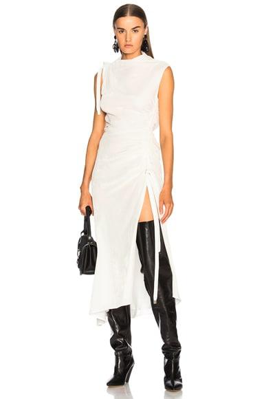 Velvet Drawstring Dress