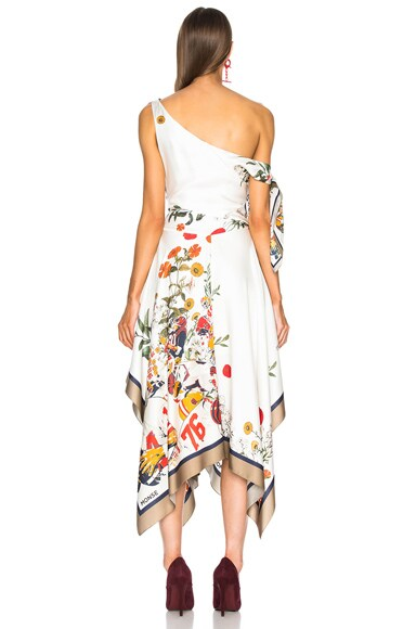Football Floral Off Shoulder Dress