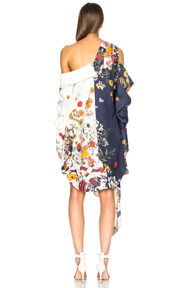 Football Floral Split Print Dress