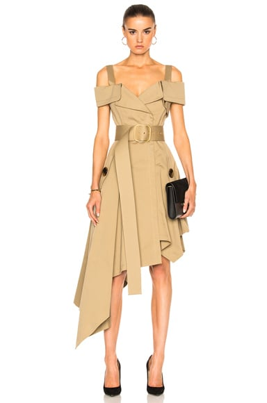 Monse Cotton Canvas Dress in Khaki