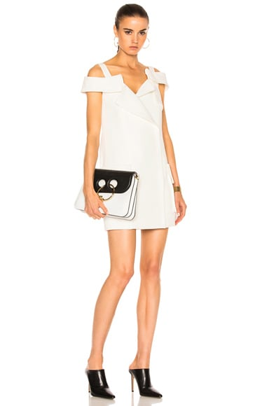 Monse Washed Cotton Drill Dress in Ivory