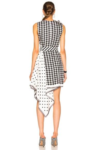 Multi Print Silk Twill Dress