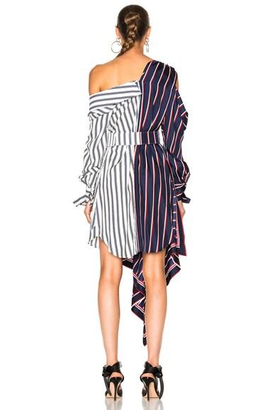 Silk Twill Asymmetrical Dress