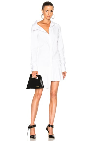 Monse Stretch Cotton Poplin Dress in White