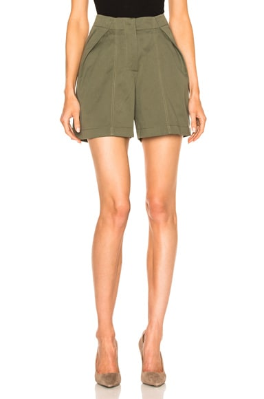Monse Cotton Canvas Shorts in Olive