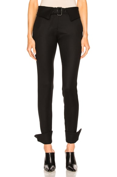 Monse Stretch Tuxedo Wool Pant in Black